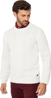 By Patrick Grant Ivory Cable Knit Wool Rich Jumper