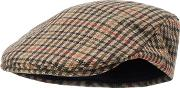 By Patrick Grant Multicoloured country Tweed Flatcap