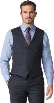 By Patrick Grant Navy Flannel Waistcoat
