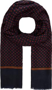 By Patrick Grant Navy Geometric Print Dress Scarf
