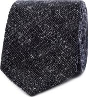 By Patrick Grant Navy Textured Check Tie