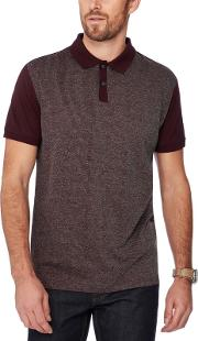 By Patrick Grant Wine Red Stripe Front Polo Shirt