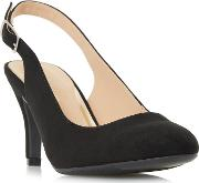 By Dune Black carrla Mid Stiletto Heel Court Shoes