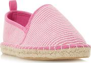 By Dune Pink Canvas galinda Espadrilles