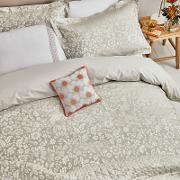 Natural Viscose And Polyester lily Duvet Cover