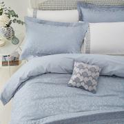 Pale Blue Viscose And Polyester lily Duvet Cover