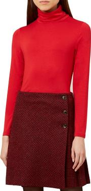 Bright Red mischa Roll Neck Top
