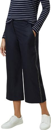 Navy callie Crop Trousers