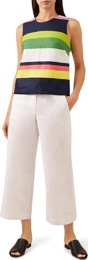 White nicole Crop Trousers