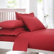 Red Cotton Rich Percale Duvet Cover