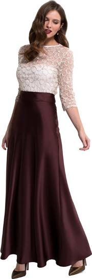 Chocolate Silky Maxi Skirt In Clever Fabric