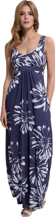 Empire Line Maxi Dress In Coolfresh Fabric
