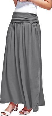 Grey Maxi Skirt With Coolfresh