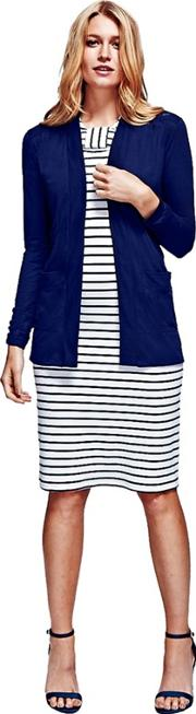 Navy Longline Cardigan With Coolfresh