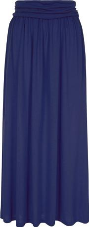 Navy Maxi Skirt With Coolfresh