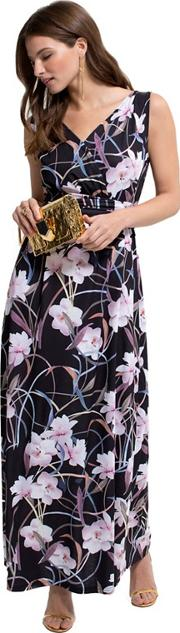 Occasion Print Maxi Dress In Clever Fabric