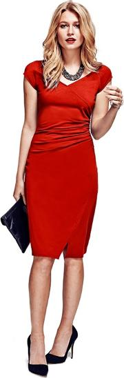Red Raglan Sleeve Dress In Coolfresh