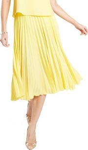 Yellow Pleat Skirt In Clever Fabric
