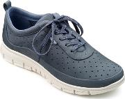 Blue Suede gravity Lace Up Trainers
