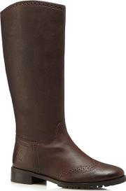 Brown 'emilia' High Ankle Riding Boots