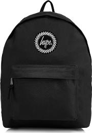 Black Embroidered Logo Backpack