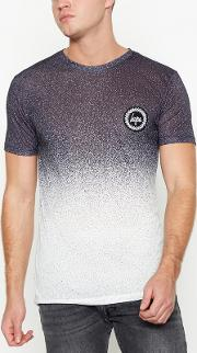 Black Faded Speckled T Shirt
