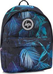 Black Paint Palm Print Backpack