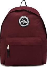 Dark Red Embroidered Logo Backpack