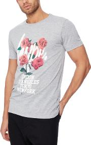 Grey Capital City Rose T Shirt