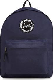 Navy Embroidered Logo Backpack