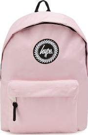 Pink Embroidered Logo Backpack