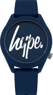 Unisex Navy Analogue Silicone Strap Watch Hyg001u
