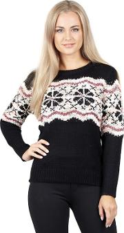 Black Detailed Knit Pullover