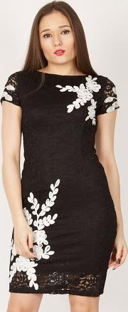 Black Leaf Cornelli Lace Dress