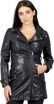 Black Zipped Front Pocket Jacket