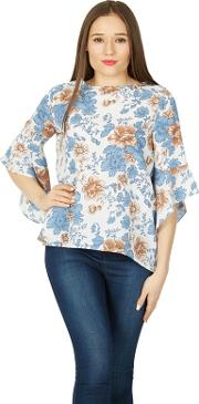 Multicoloured Printed Blouse Top
