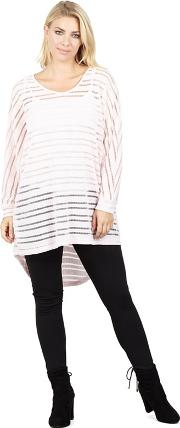 Pink Long Dolman Sleeve Top