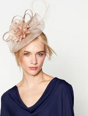 Beige camelia Wave Fascinator Headband
