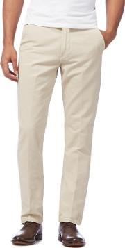 Big And Tall Beige Straight Fit Chinos