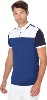 Big And Tall Dark Blue And White Polo Shirt