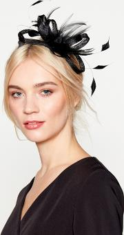 Black amy Feather Bow Fascinator