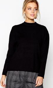 Black Drape Back Jumper