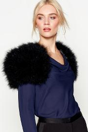 Black Feathered Shrug