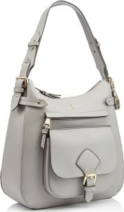 Grey Textured Finish strawberry Hill Shoulder Bag