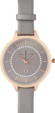 Ladies Designer Grey Swarovski Dial Watch