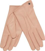Light Pink 3 Point Leather Gloves