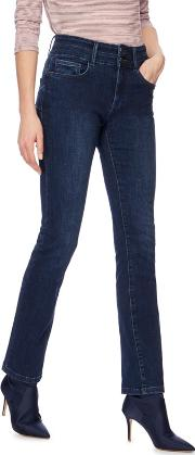 Mid Blue lift And Shape High Waisted Straight Leg Jeans