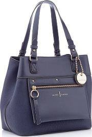 Navy Faux Leather cannes Small Hobo Bag