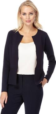 Navy Hook And Eye Cardigan