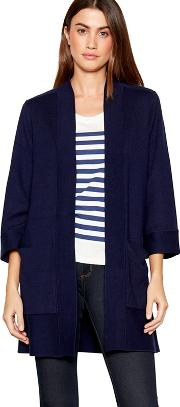 Navy Long Sleeve Cardigan